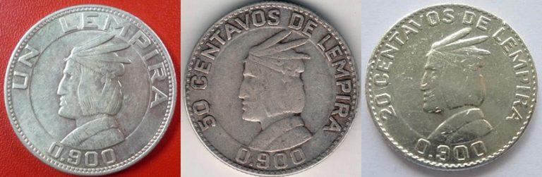 Las 3 últimas Monedas De Plata Uso General En Honduras